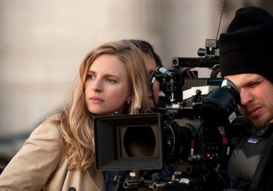 Brit Marling filming The East