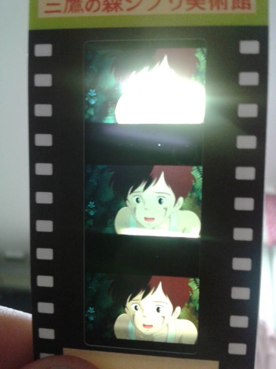 Tickets from the Studio Ghibli museum are made from snips of film