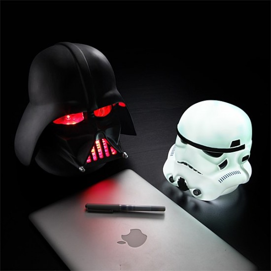 Darth Vader And Stormtrooper Head-Shaped Lamps
