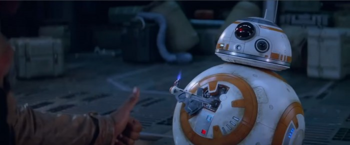 star wars: the force awakens bb8 thumbs up