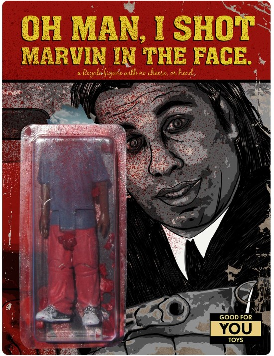 """""""Oh man, I shot Marvin in the face!""""-Action figure"""