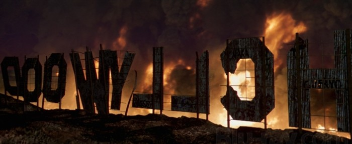 Escape from LA hollywood burning