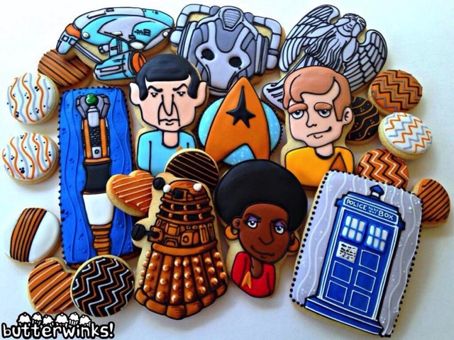 Star Trek Meets Doctor Who Cookies
