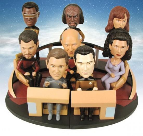 Star Trek: The Next Generation Build-a-Bridge Deluxe Bobble Heads