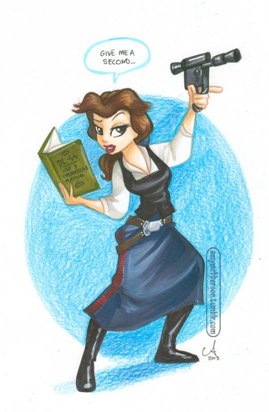 Belle As Han Solo Would Look Like This
