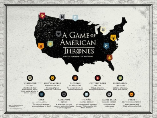 map of Game of Thrones