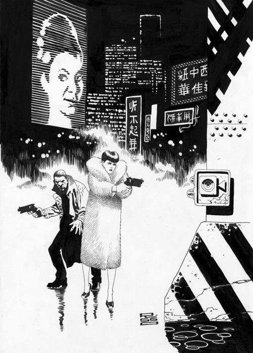 Blade Runner art by Eduardo Risso