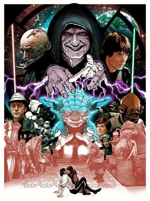 Return of The Jedi Themed Print,