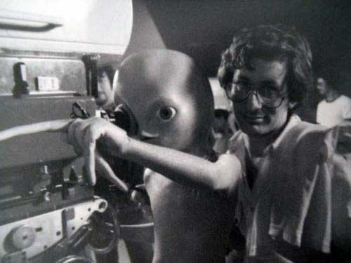 Steven Spielberg on the set of Close Encounters of the Third Kind