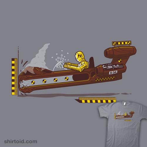 Crash Test Droid t-shirt