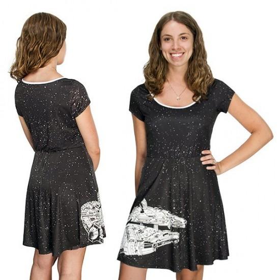 Star Wars Millennium Falcon Ladies A-line Dress
