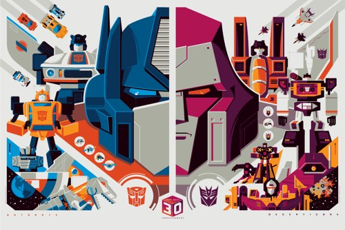 Transformers Posters by Tom Whalen