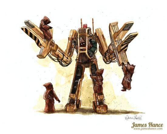 James Hance's Star Wars/Alien mash-up painting