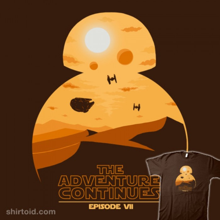 The Adventure Continues t-shirt