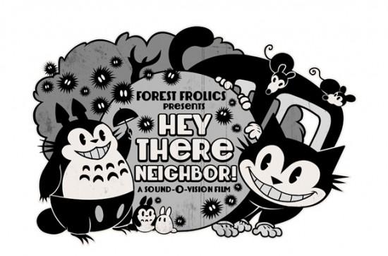 """totoro-inspired design """"My Neighbor 1930""""."""