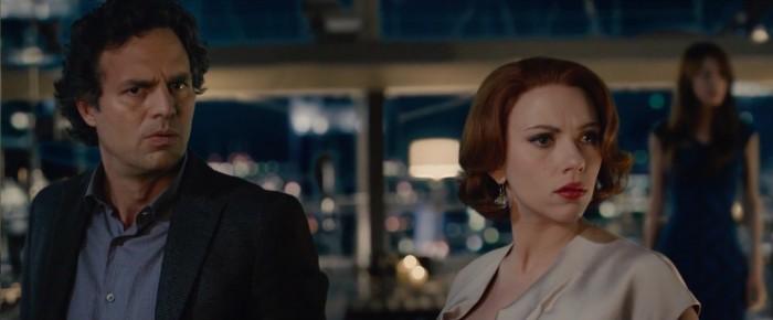 Mark Ruffalo and Scarlett Johansson in Avengers: Age of Ultron