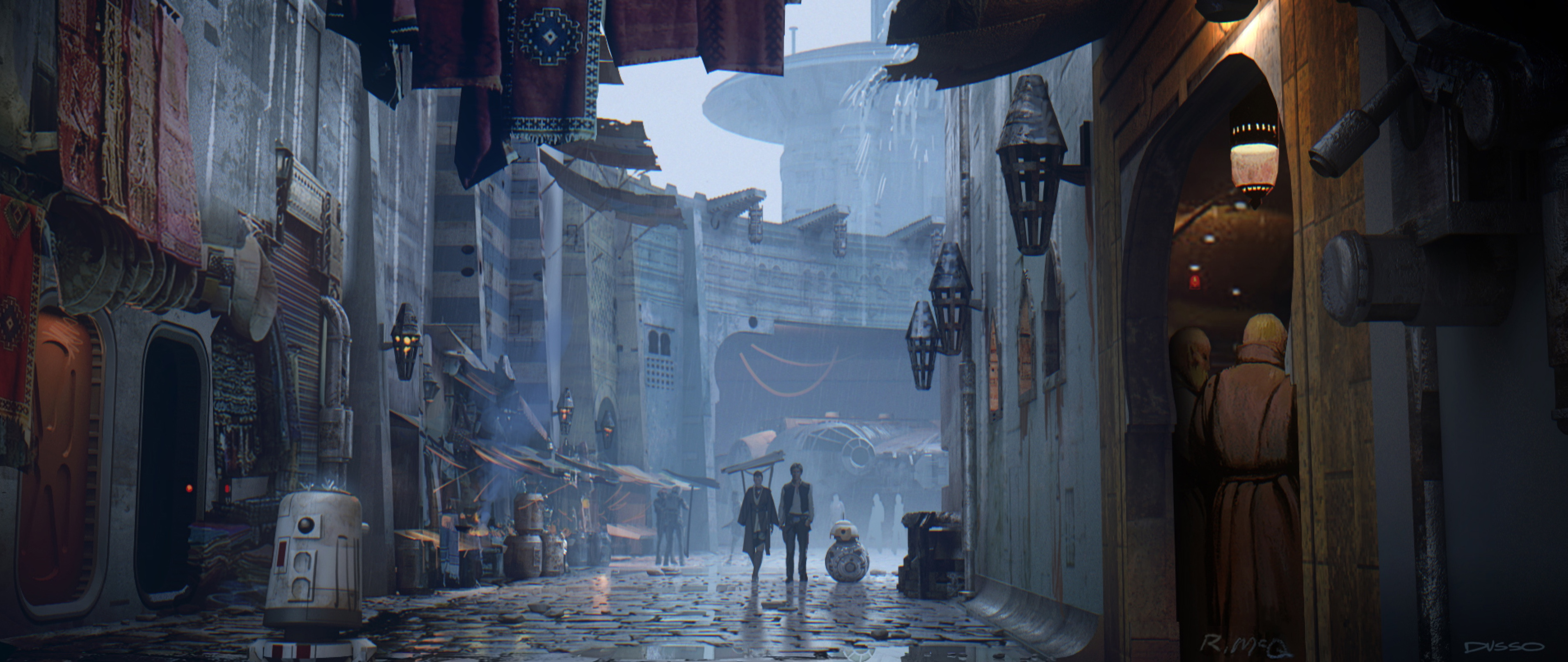 Beautiful Unused Star Wars: The Force Awakens Concept Art