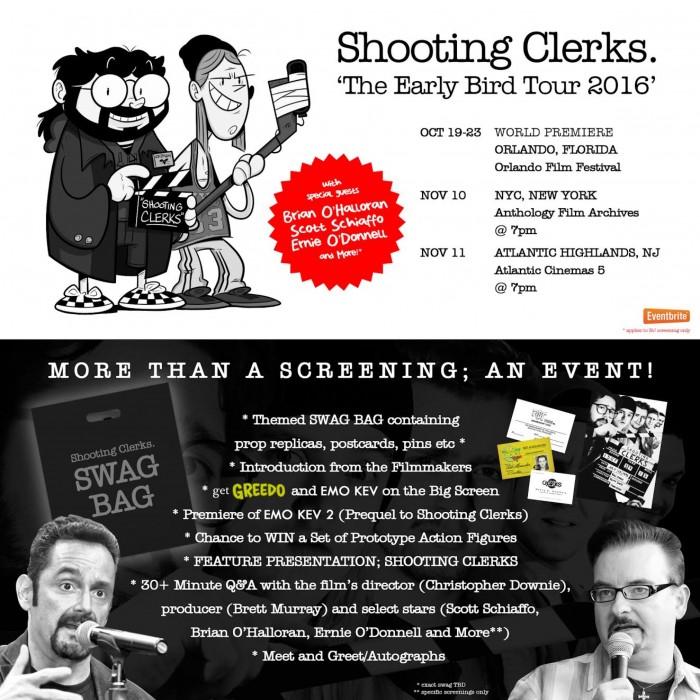 Shooting Clerks premiere