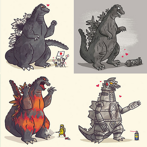 """""""A Kaiju Romance"""" Print Series from Christopher Lee"""