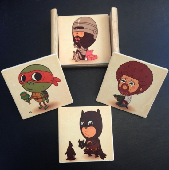 Just Like Us Coaster Set By Mike Mitchell