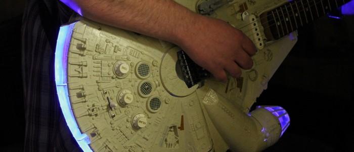 Rebel Bass: Star Wars guitars with Millennium Falcon bodies
