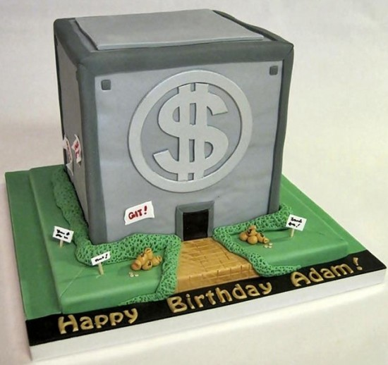 Scrooge McDuck's Money Bin Cake