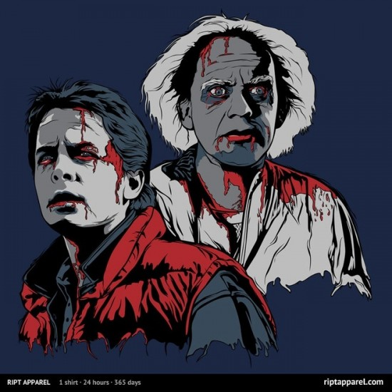 """Back to the Future-inspired design """"Back to the Dead"""""""