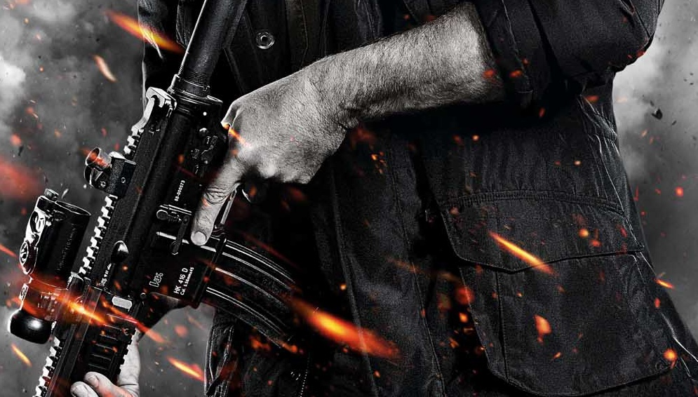 Movie Poster Design Trend Hero Stands Weapon In Hand Before