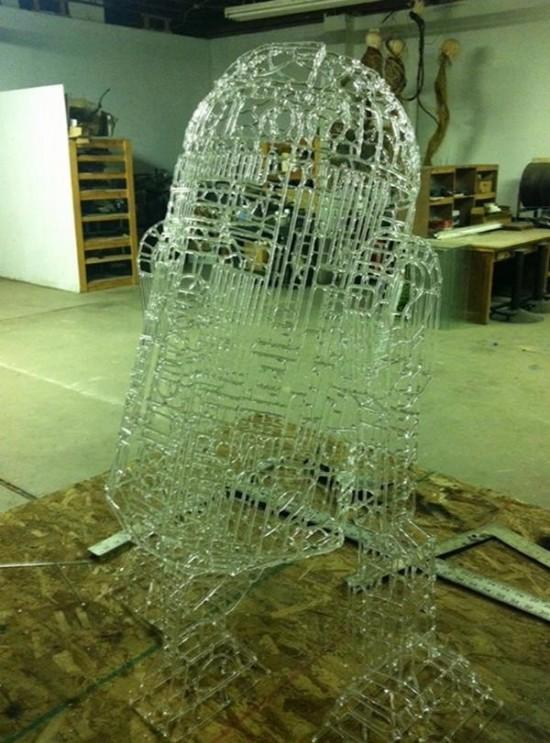 Glass R2-D2 Sculpture