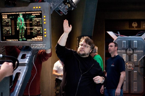GUILLERMO DEL TORO on the set of the sci-fi action adventure