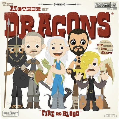 """Joey Spiotto """"Mother of Dragons"""" print inspired by Game of Thrones"""