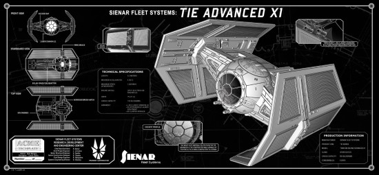Vader's TIE Fighter TechPlate