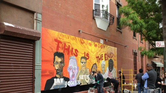 James Franco Painted a Mural in Williamsburg