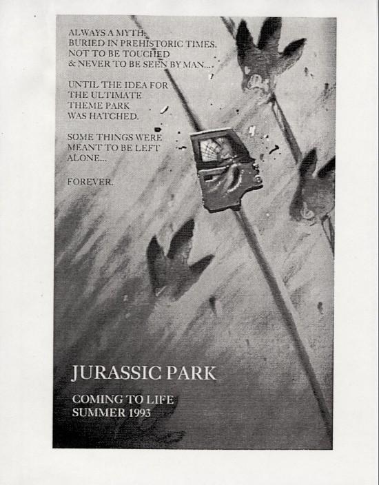 Unused Jurassic Park Posters Designed By John Alvin