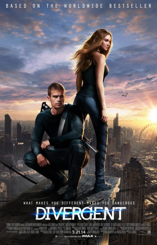 Shailene Woodley & Theo James Strike A Pose On Final DIVERGENT Poster
