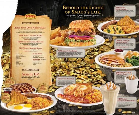 Denny's new Hobbit menu