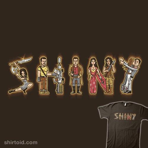 S-H-I-N-Y t-shirt