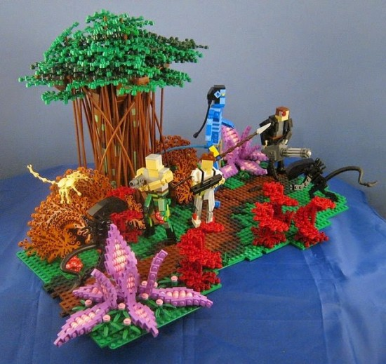Avatar Lego diorama
