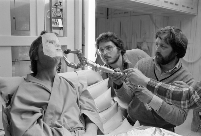 lawrence kansan on the set of Star Wars: The Empire Strikes Back