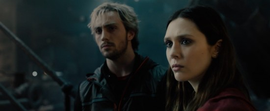 Avengers: Age of Ultron: Ultron, Scarlet Witch and Quicksilver stand in the wreckage of a lab