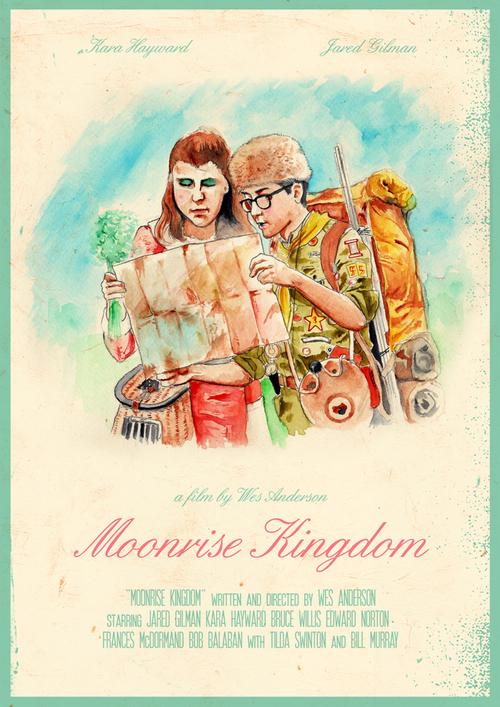 Moonrise Kingdom poster by Joel Amat Güell