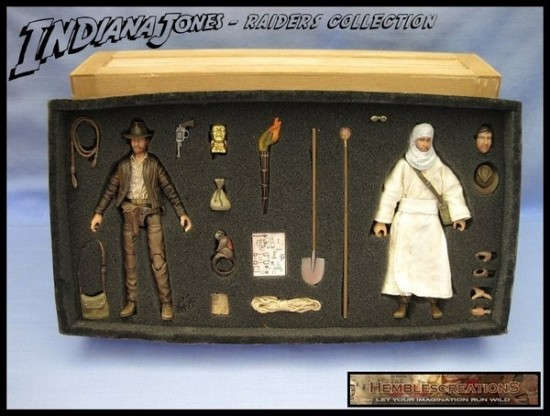 """Indiana Jones - Raiders Collection 3-3/4"""" By Hemblecreations"""