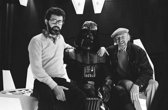 George Lucas, David Prowse and Irvin Kershner