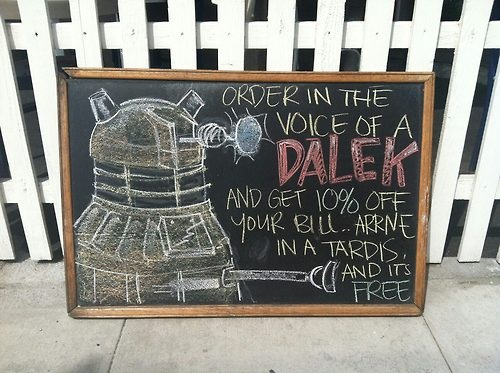 Coffee Shop Offers a Dalek Discount