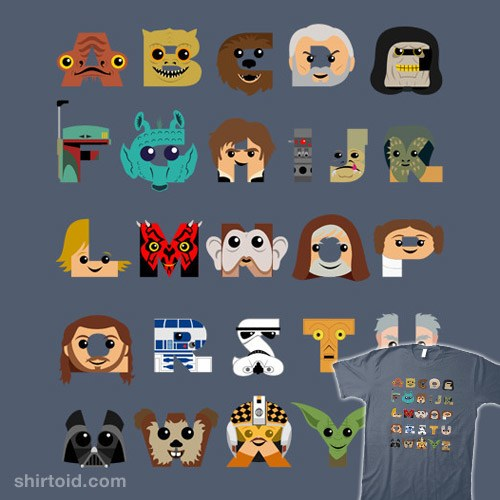 Star Wars A-Z T-SHIRT