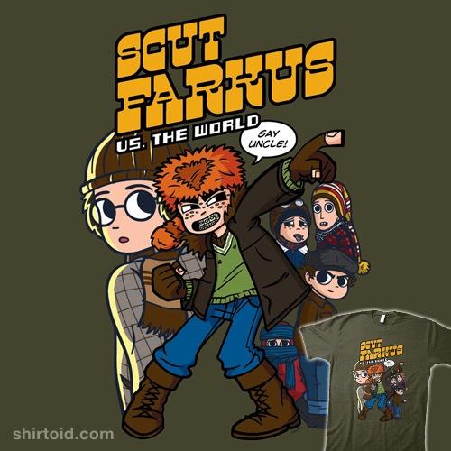 Scut Farkus vs. The World t-shirt