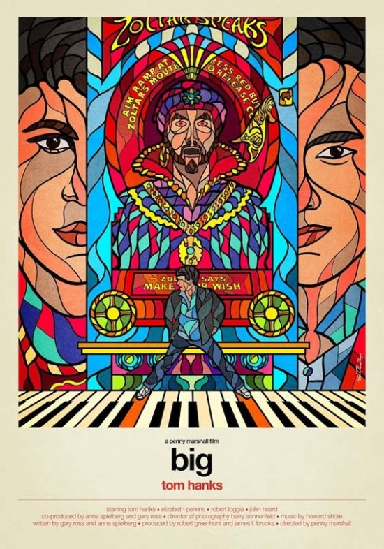 Big STAINED GLASS WINDOW MOVIE POSTER