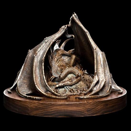 The Hobbit Smaug the Golden Bronze Statue