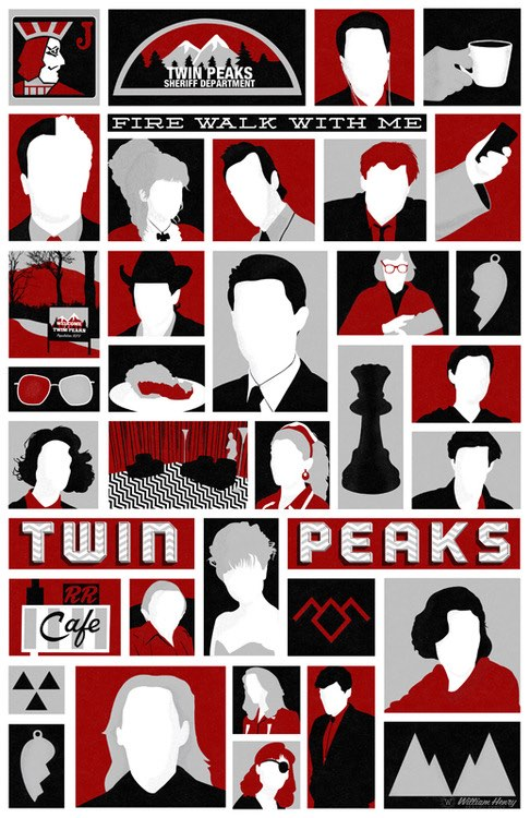 Twin Peaks poster by William Henry