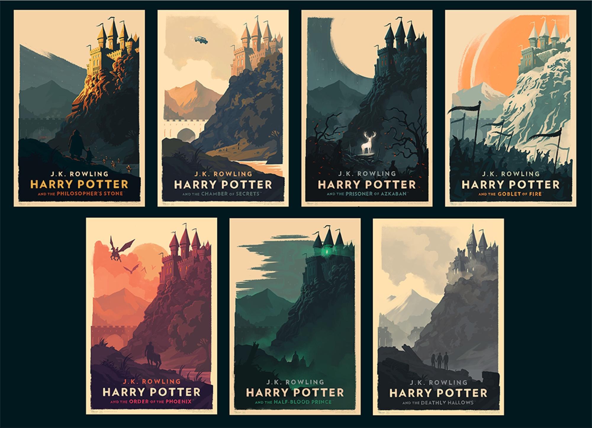 Harry Potter Book Art Hogwarts Olly Moss Harry...